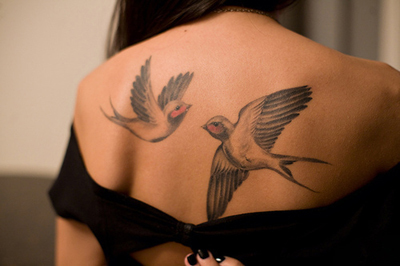 bird tattoo, birds, black, girl, tattoo