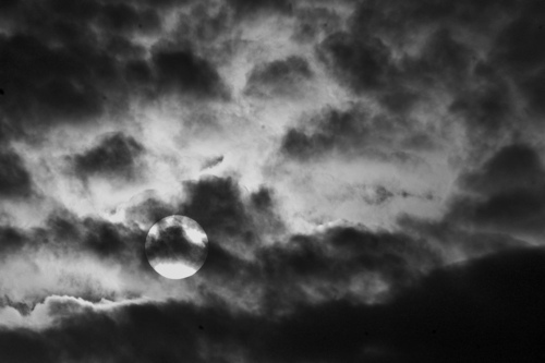 black and white, clouds, dark, moon, photography
