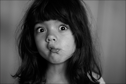 black, black and white, child, cute, face