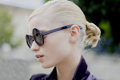 blonde, fashion, glasses and model