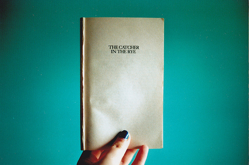 blue, book, catcher, catcher in the rye , cover
