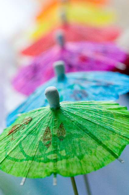 blue, colourful, green, pink, summer, umbrella