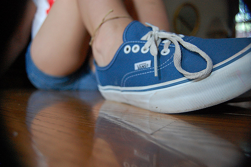 blue cute girl photography shoes image 201510 on