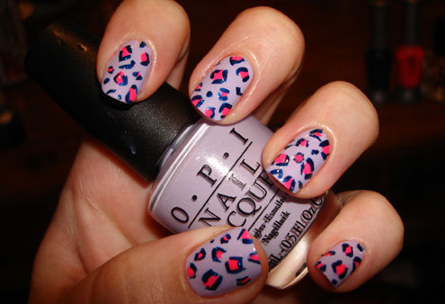blue, girls , nails, opi, pink