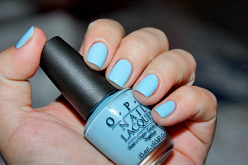 blue, make up, nailpolish, opi, separate with comma