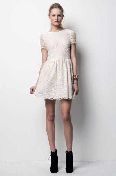 boots, dress, fashion, lace, lace dress, white, white dress