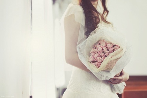 bouquet, cute, dress, fashion, girl
