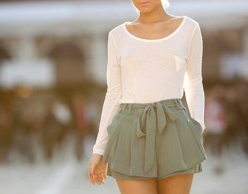 bow, clothes, cute, dress, fashion, girl, green, hipster, model, shorts, skirt, vintage, white