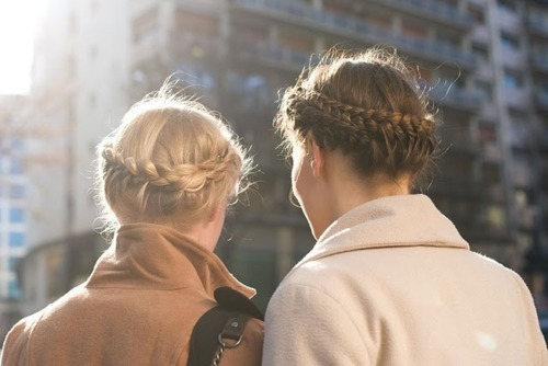 braid, girl, hair, plait