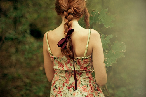 braid, girl, hair, plait floral hair braid, red hair