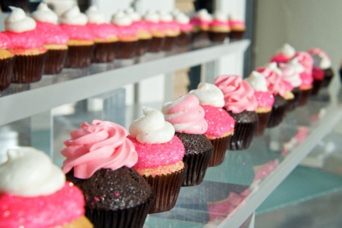 brown, chocolate, cupcake, cupcakes, delicious, food, pink, sugar, sweet, vanilla
