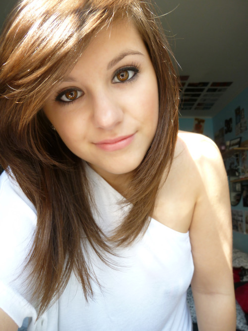 Brown cute eyes girl hair sun white