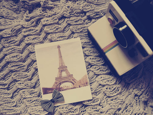 camera, capture, cute, eiffel, paris, photography, ribbon, vintage
