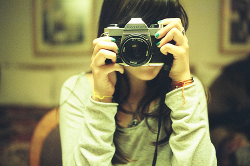 camera, cute, girl, pentax, photocamera, photography, vintage