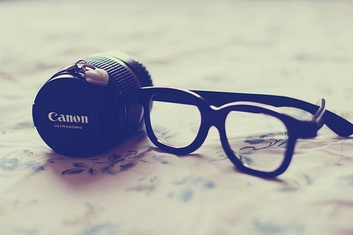 canon, glasses, lens