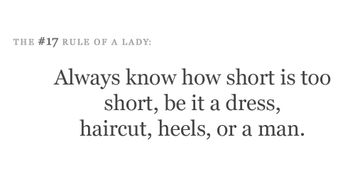 classy, hair, know, man, rule of a lady, rules of being a lady, short