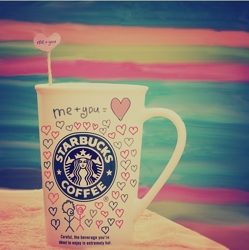 coffee, cute, heart, love, pink, separate with comma, starbucks, starsbucks, sweet