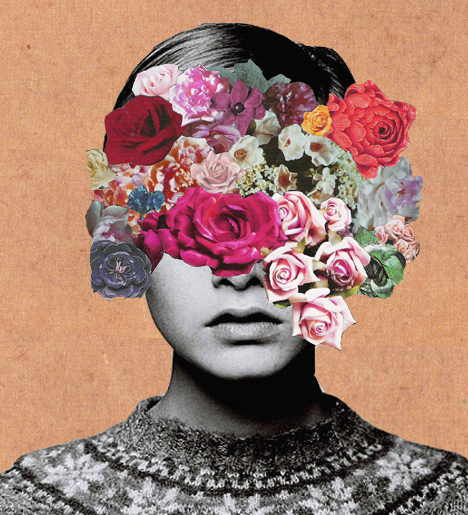 collage, flowers, lawson, lesley hornby, twiggy