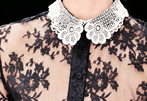 collar, fashion, floral, lace, peter pan collar