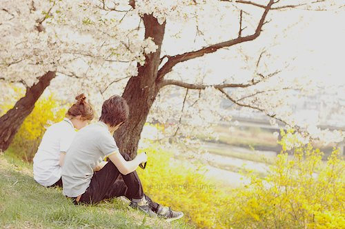 couple, cute, cuties, flowers, love