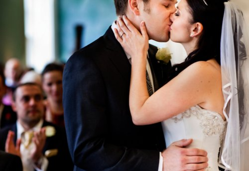 couple, cute, dress, girl and boy, happiness, kiss, love, wedding