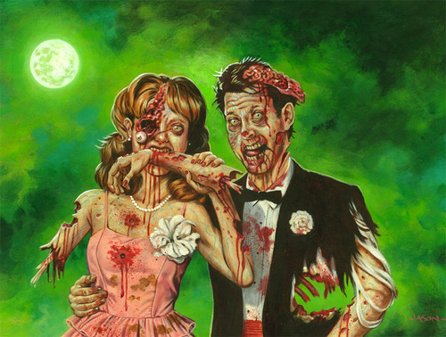 couple, date, funny, zombie, zombies