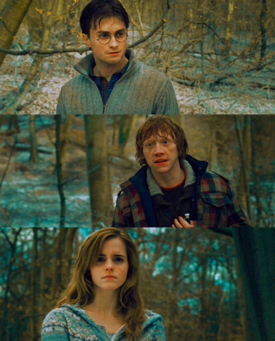 daniel radcliffe, deathly hallows, emma watson, harry potter, hermione granger