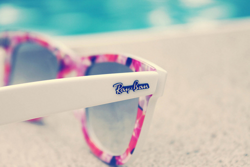 design, fashion, look, oculos, photography, pink, ray ban, sunglass, water