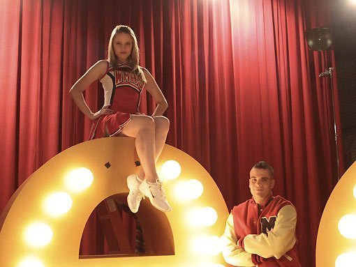 dianna agron, glee, mark salling, quick