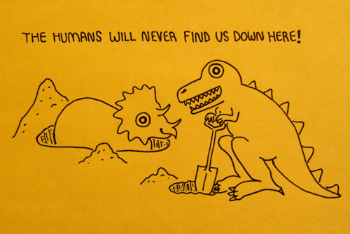 dinosaur, dinosaurs, down, funny, history, human, humans, lol, umans, yellow