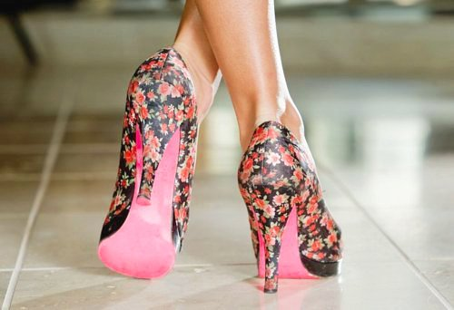 fashion, fiori, flower, flower party, flower print, heels, high heels, liberty, rosa, scarpe, shoues, tacchi