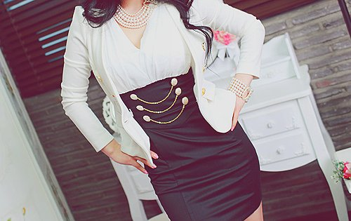 fashion, girl, jacket, long hair, pearls
