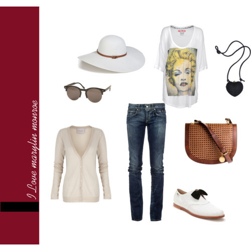 fashion, glasses, madonna, marylin monroe, polyvore