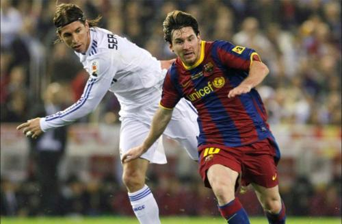 football, lionel messi, player, real madrid, sergio ramos