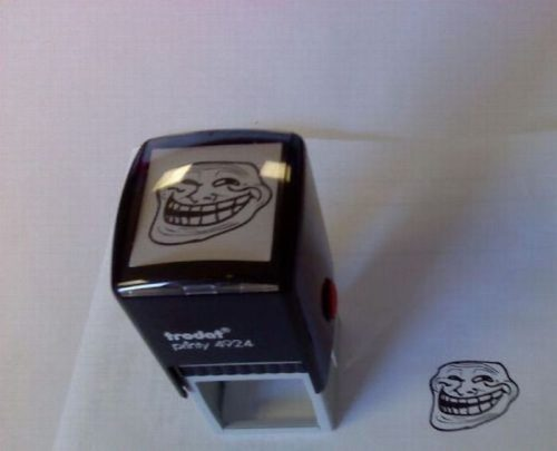 funny, humor, meme, stamp, troll face