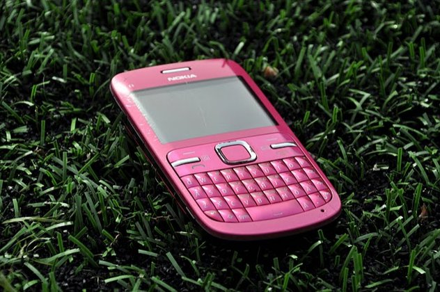 grass, green, nokia, phone, pink