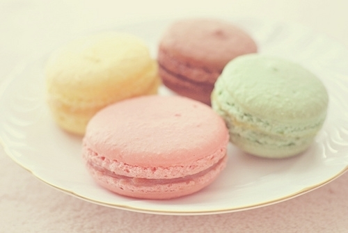green, macaron, pink, red, yellow