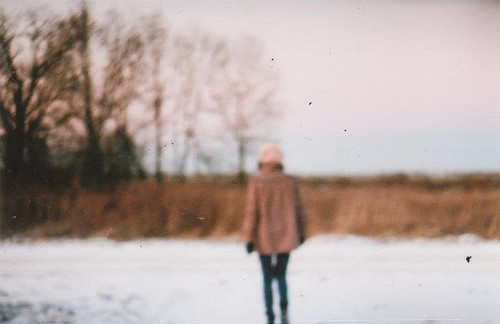 alone, blur, coat, fashion, girl