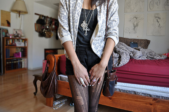 animal, animal print, bag, blazer, brunette