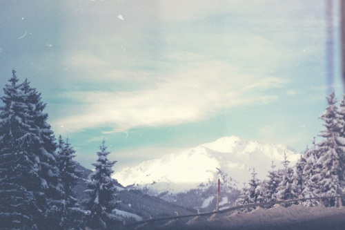 austria, mountains, sky, snow, trees