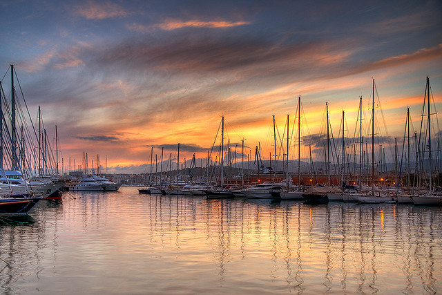 beach, beautiful, boat, clouds, marina