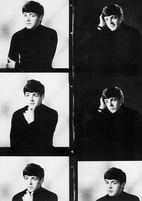 beatles, black and white, paul mccartney, the beatles