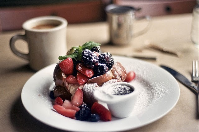 berries, breakfast, coffee, food, french