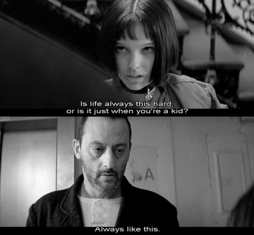 black and white, leon, natalie portman, text, the professional