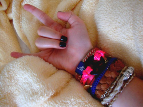 black nail, bracelets, fashion, hand, peace, rock