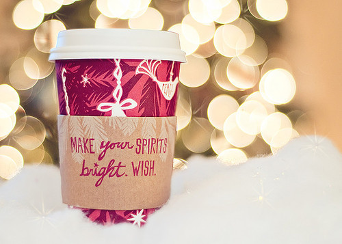 bright, cristmas, starbucks