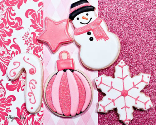 candy cane, designs, glitter, ornament, pink, snowflake, snowman, star