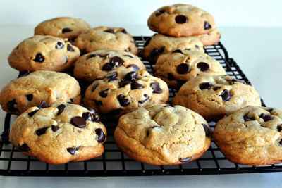 chocolate chip, cookies, delicious, dessert