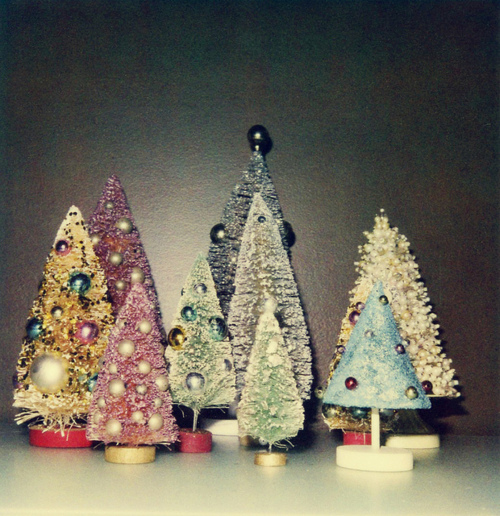christmas, christmas trees, knick knacks, trees, vintage