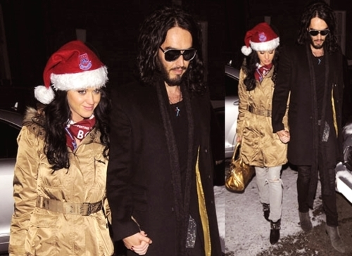 christmas, couple, katy perry, love, russell brand